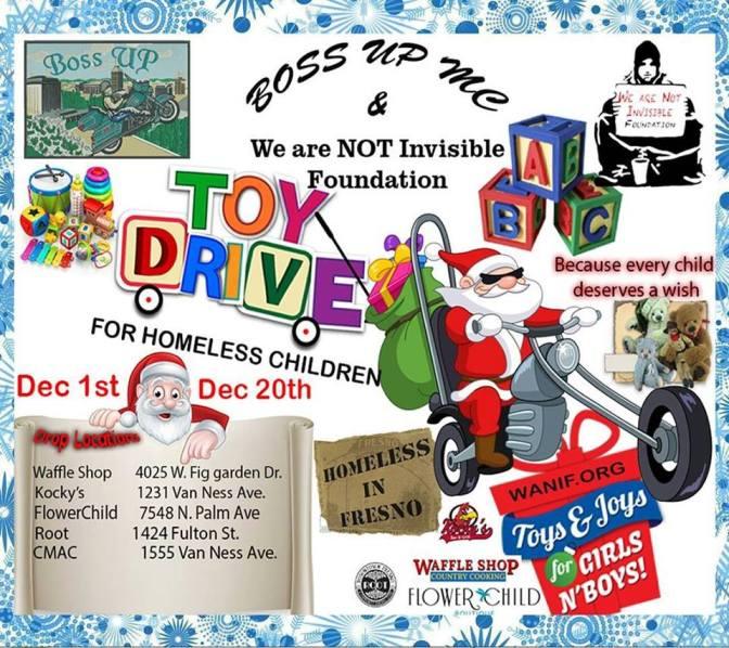 Provide gifts for homeless children